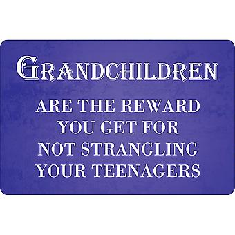 Greet Tin Card Grandchildren The Best Reward Plaque