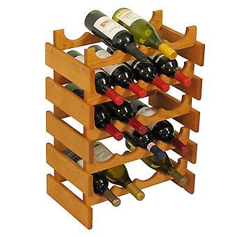 Legno Mallet 20 Bottiglia Dakota Wine Rack, Rovere Medio
