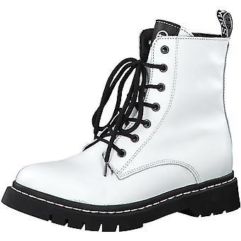 Booties Low Heels Weiß
