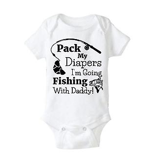 Pack My Diapers I'M Going Fishing With Dad Unisex Romper