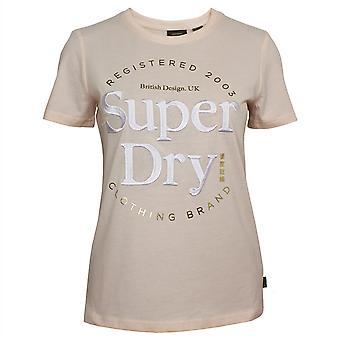 Superdry women's kirkas punastunut vakiintunut t-paita
