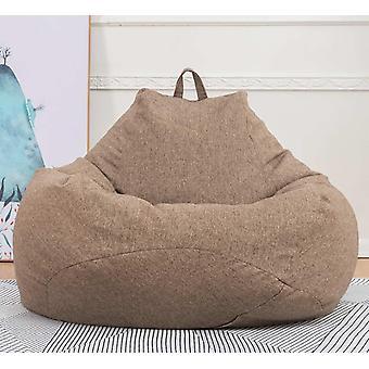 Bean Bag Sofas Cover Stühle ohne Füllstoff Leinen Tuch Liege Sitz - Puff