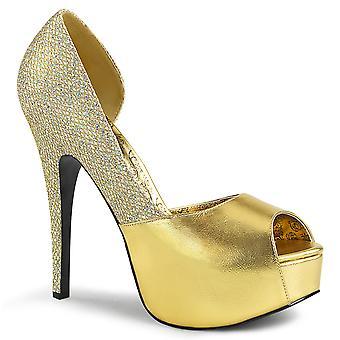 בבקשה נשים & נעליים ורוד זהב נפגשו. פו-מולטי נצנצים