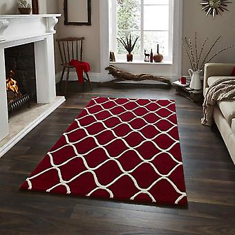 Elements Rugs El65 Hand Made Wool In Red