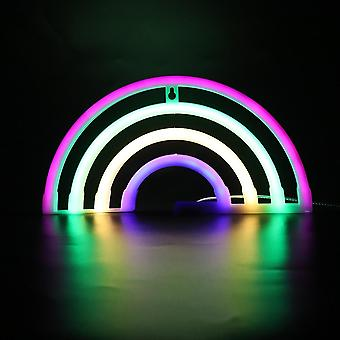 Led Neon Sign Night Light Rainbow Love Wedding Party Décoration Neon Lamp