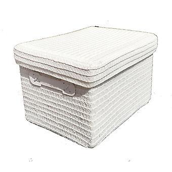 Bright Colours Fabric Storage Basket Box + Lid