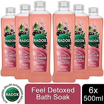 Radox 100% Nature Inspired Fragrances Bath Soak, Feel Detoxed, 6 Pack, 500ml