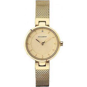 Accurist 8251 Súčasné zlato z nehrdzavejúcej ocele Dámske mesh hodinky