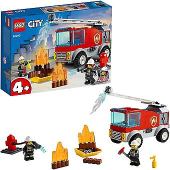 LEGO 60280 City Fire Ladder Truck Toy with Firefighter Minifigure for 4+ Years Old Boys and Girls