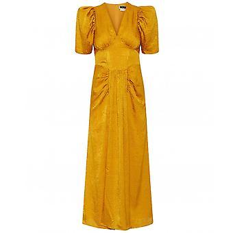 ROTATE Alma Jacquard Midi Dress
