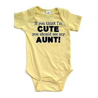 Apericots Als je denkt dat ik schattig vind, moet je mijn tante korte mouw zien