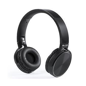 Fones de ouvido de diadema dobráveis Bluetooth 3.0 preto