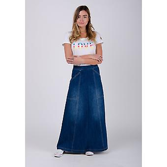 Heather maxi denim skirt - stonewash