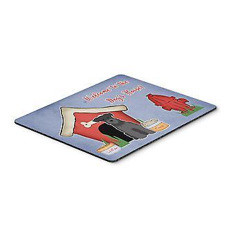 Caroline s Schätze Hund Haus Sammlung Miniatur Schnauzer Maus Pad, mehrfarbig, 7.75X9.25 (Bb2805Mp)