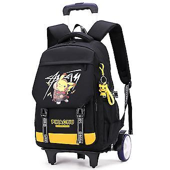 Trolley school bag big wheel climbing stairs backpack elementary school backpack