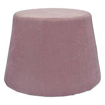hocker 45 x 37 cm Samt/Polyurethan rosa