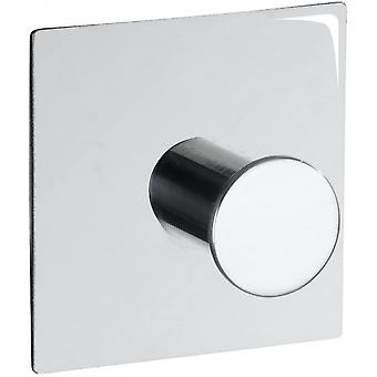 wall hook Accadia 5 x 3 cm stainless steel chrome