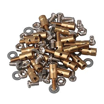 20 Pcs Golden Adjustable Model Plane and Boat Servo Horn Linkage Connectors