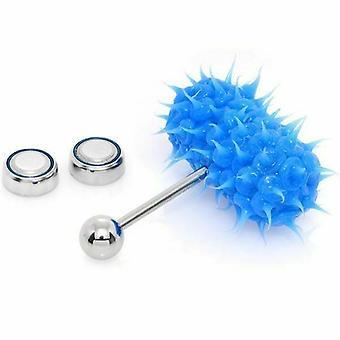 Lix silikoni piikit vibraattori kieli rengas sininen 14g
