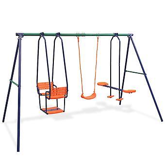 set à balançoire vidaXL avec 5 sièges orange