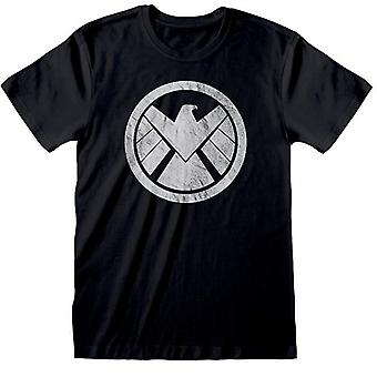 Avengers montera mens shield logotyp T-shirt