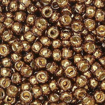"""Tohon siemenet, kierros 8/0 #PF594 """"ikivanha galvanoitu mitalipronssi"""", 8 grammaa"""