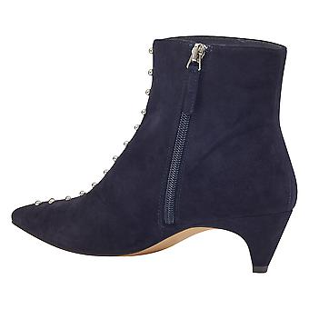 Nine West Womens Zyrannia Leather Pointed Toe Ankle Fashion Boots