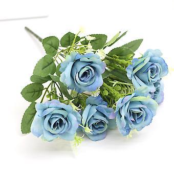 5個の人工花人工バラ乾燥花偽の花