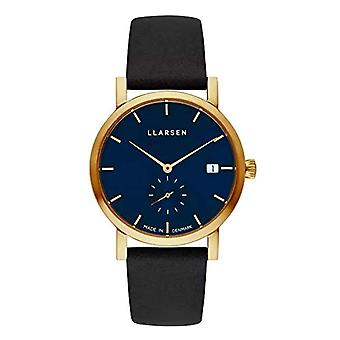 LLARSEN Analogueic Watch Quartz Woman with Leather Strap 137GDG3-GCOAL18