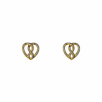 Avec l'amour - Amour infini - Icônes Boucles d'oreilles - Or rose - Bijoux cadeaux pour femmes de Lu Bella