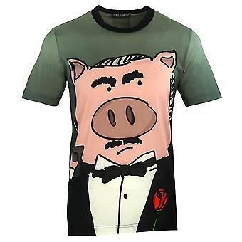 Dolce & Gabbana Padrino Varken Grijs T-Shirt