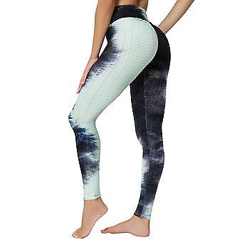 2Xl černé vysoké pas jógové kalhoty cvičení sportovní bříško ovládání legíny 3 cesty úsek máslové měkké x2072