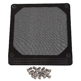 Für 5Set 8cm Metalllüfter Staubdichtfilter Edelstahl Mesh für PC CPU Computer Chassis WS6014