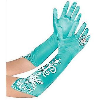 Ice Snow Elsa Anna Aqua Masquerade Gloves