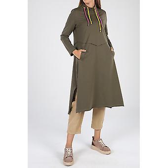 Encaje detallado túnica con bolsillos