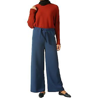 Hijab Elastic Waist Wide Leg Hijab Pants