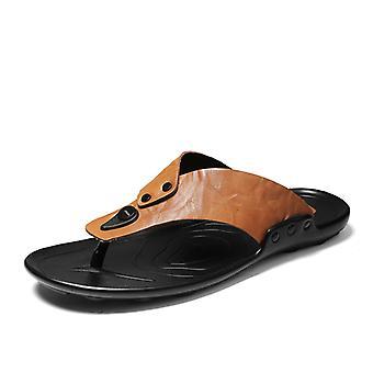 Men's Comfortable and non-slip flip flop 1E8255 Yellow