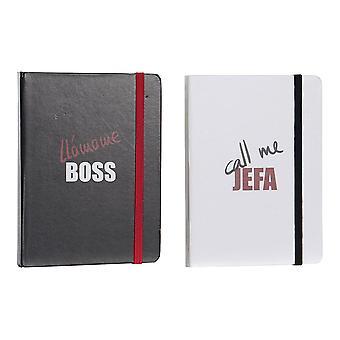 دفتر DKD ديكور المنزل الأبيض الأسود الأحمر (2 أجهزة الكمبيوتر الشخصية) (10.5 × 1.5 × 14.5 سم)