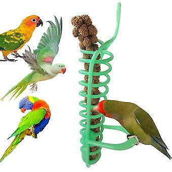 Tragbare hängende Spiral futter Vögel Papagei Tierfutter Obsthalter