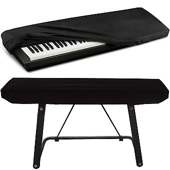 Piano Keyboard Cover, Premium Stretchable Velvet Digital Piano Dust Cover