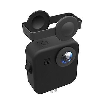 Beschermende soft case shell met lens cap voor GoPro Max Action Sport camera ZWART