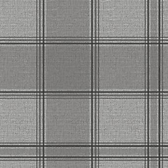 Giorgio Check Wallpaper Silber Belgravia 8101