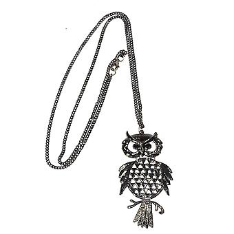 Wide Eyed Owl Necklace(Gold)