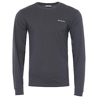 Columbia Pikewood Organic Cotton Long Sleeve T-Shirt - Shark Grey