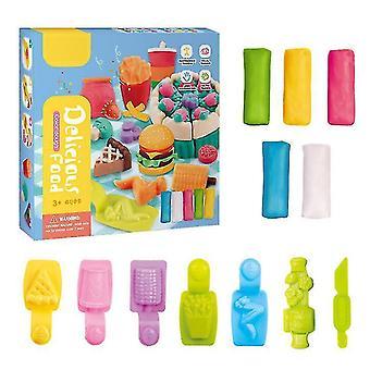 Plasticine DIY ručně vyráběné bahenní dětské vzdělávací hračky barví bláto s různým tvarem