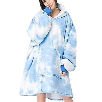 Mile Ladies Mid-length Long-sleeved Hooded Nightgown Parent-child
