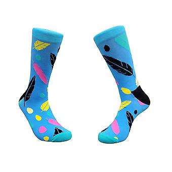 Colorful Feather Pattern Socks from the Sock Panda