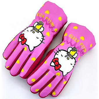 Childrenins Winter Professional Ski Gloves Waterproof Warm