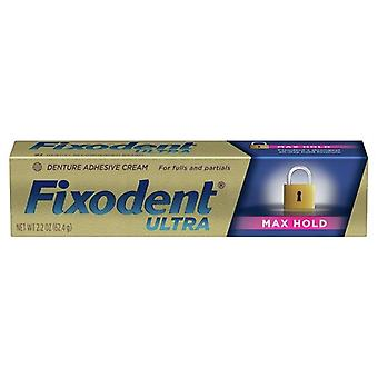Fixodent Ultra Max Hold Denture Adhesive, 2.2 Ounces