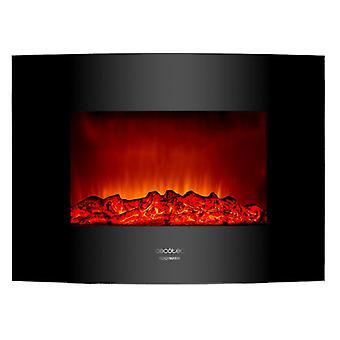 """Cecotec Chimenea Eléctrica Ready Warm 2200 Curved Flames. Potencia Máxima 2000 W, Tamaño 22"""", 2 Niveles De Potencia, área De Cob"""